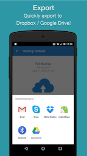 Simpler Contacts Backup- screenshot thumbnail