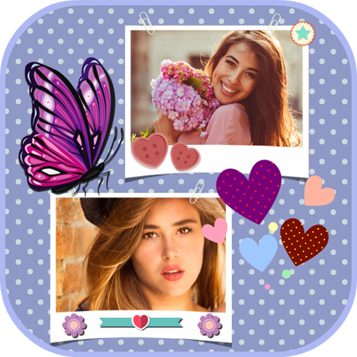 Photo Collage Pics Frame: Art Layout Dual Maker Icon