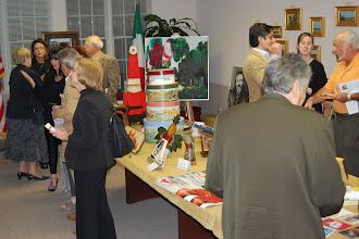 Photo: Enjoying the evening at the L'Art D'UNICO Exhibit