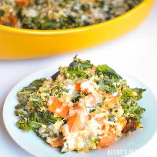 Kale & Roasted Vegetable Quinoa Casserole.