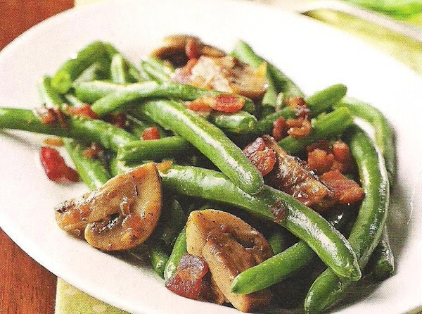 Green Beans With Bacon And Mushrooms Recipe