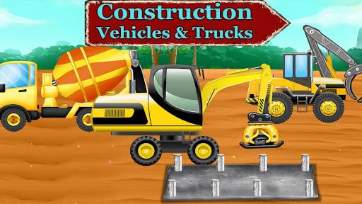 Construction Vehicles & Trucks - Games for Kids 1.8.1 screenshots 1