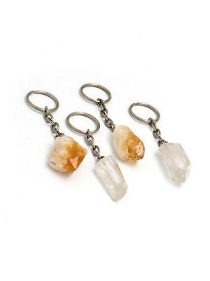 Rå kristallspets, nyckelring