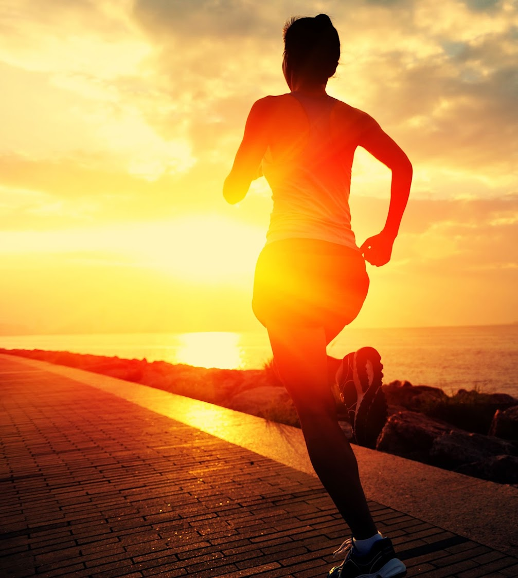 Stock image: A woman jogging