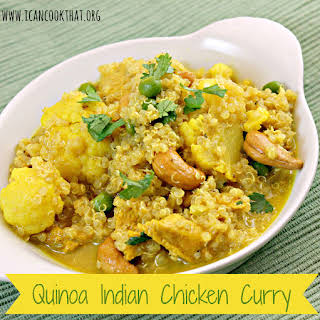 Quinoa Indian Chicken Curry.