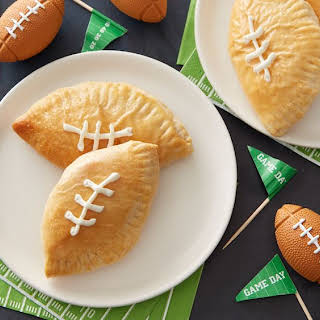 Mini Football Buffalo Chicken Calzones.