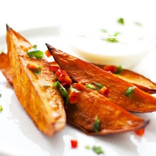 Sweet Potato Wedges with Lemongrass Dip