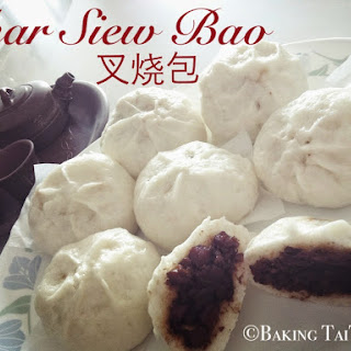 Red Bean Paste Steam Buns & Char Siew Bao (Roasted pork steam buns)