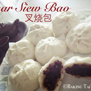 Red Bean Paste Steam Buns & Char Siew Bao (Roasted pork steam buns).