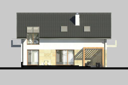 LIM House 07 - Elewacja tylna