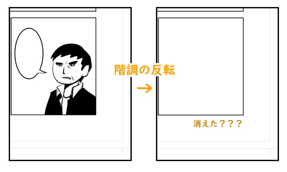 階調の反転:漫画原稿