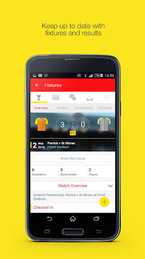 Fan App for Partick Thistle FC