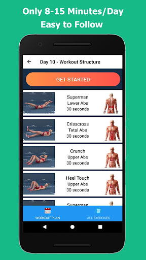 Lose Belly Fat in 30 Days - Flat Stomach 1.0.1 screenshots 10