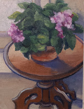 "Photo: African Violet, 10x8"" oil, $250"