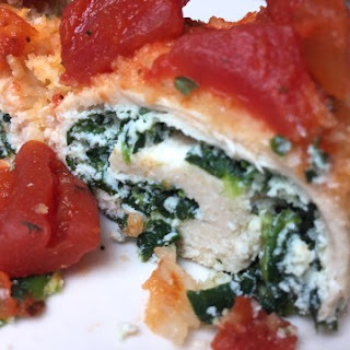 Stuffed Chicken Breast with Spinach and Ricotta.
