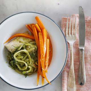 20-Minute Parchment Baked Halibut & Veggies.