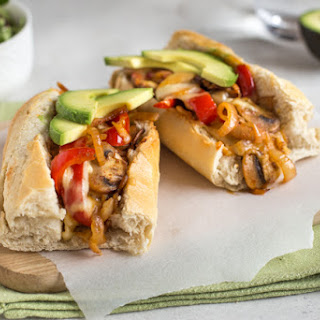 TexMex Vegetarian Cheesesteak Sandwiches Recipe