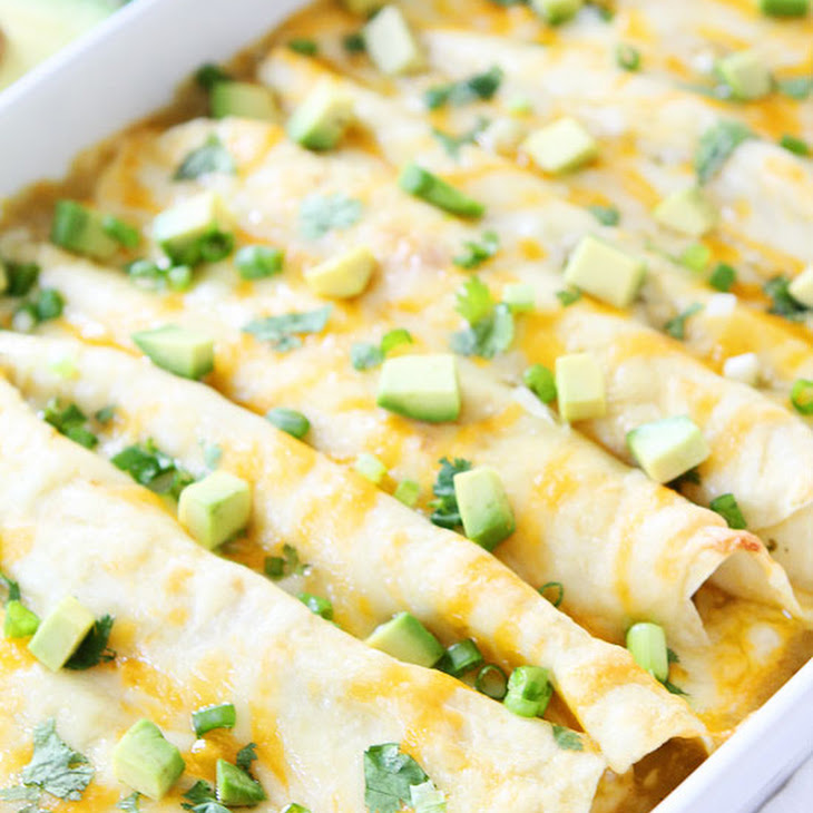 Creamy Spinach and Cheese Green Chile Enchiladas Recipe