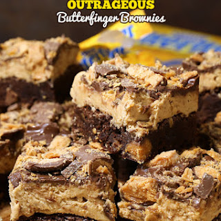 Outrageous Butterfinger Brownies