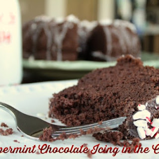Peppermint Chocolate Icing in the Cake.