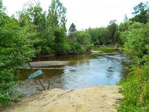 Photo: Река Большая Кеть у д.Туруханка, чуть ниже моста. Место стапеля. http://maps.yandex.ua/-/CVbFeY6w