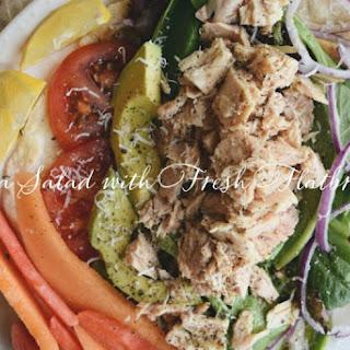 Tuna Salad with Homemade Flatbreads.