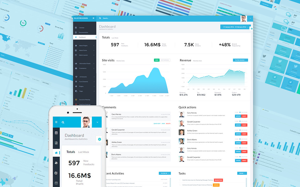 Pep Up Your Website's Backend With Cool Bootstrap Admin Templates