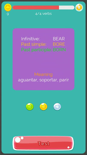 Irregular Verbs English Game 1.321 screenshots 5