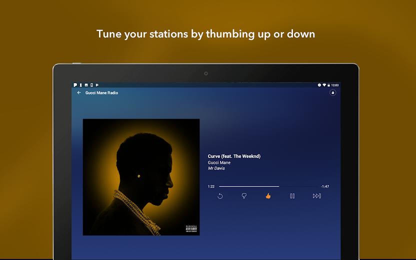 Screenshot 6 for Pandora's Android app'