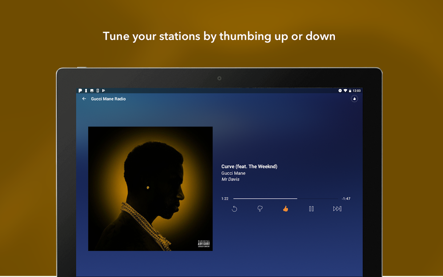 Pandora Music: captura de pantalla