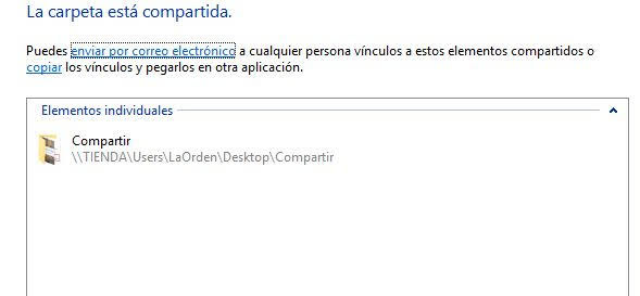 compartir archivos en red en windows 10