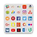 All social media and social network in one app. icon