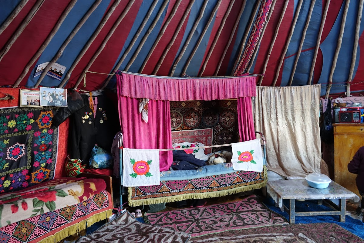 Sleeping area inside the Kazakh Ger