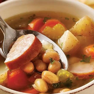 Slow-Cooker Smoked Sausage and Bean Soup.