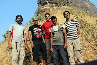 Photo: The crew just after we settled into our bivy spot and before Guru left us to our madness. Richie Kher, Ketan Vaidya, Sunny Jamshedji, Guru and Ajit Bobhate. (Courtesy Richie Kher)