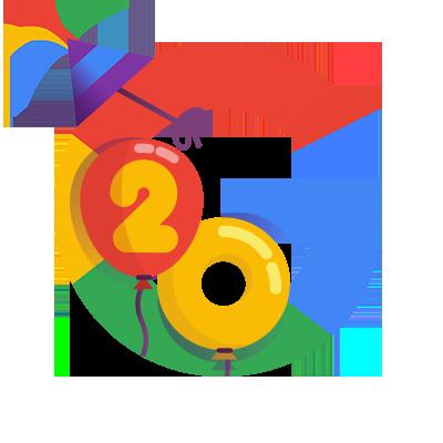 googles birthday Google's 20th Birthday googles birthday
