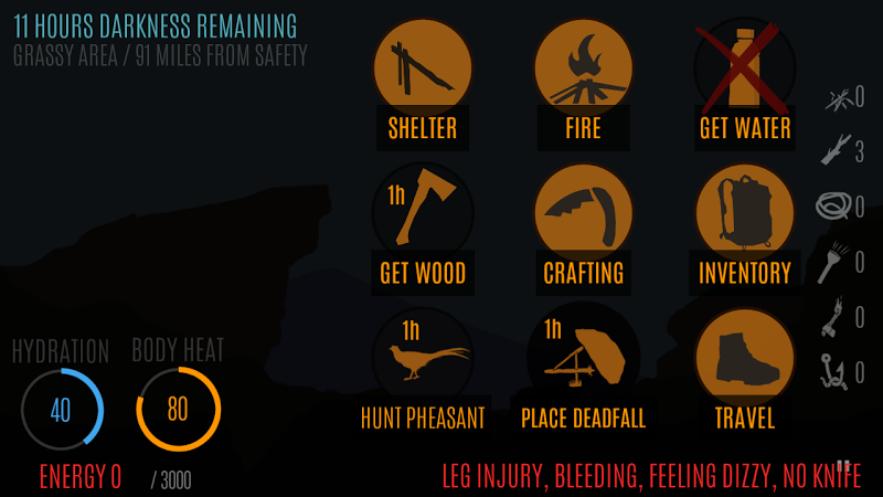 Survive – Wilderness survival v0.196 (Mod)