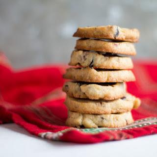Cranberry Orange and Pecan Shortbread Cookies