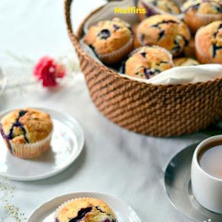 Meyer Lemon Blueberry Muffins.