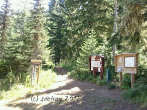 Photo: Grateful for the markers and signs and the trails.