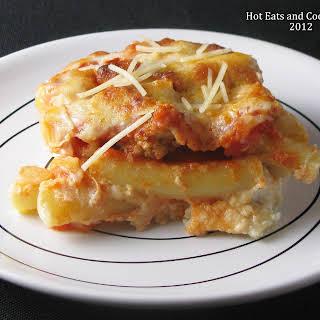 Baked Ziti with Parmesan Italian Sausage (print recipe).