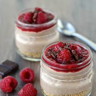Chocolate Raspberry No-Bake Cheesecake Jars