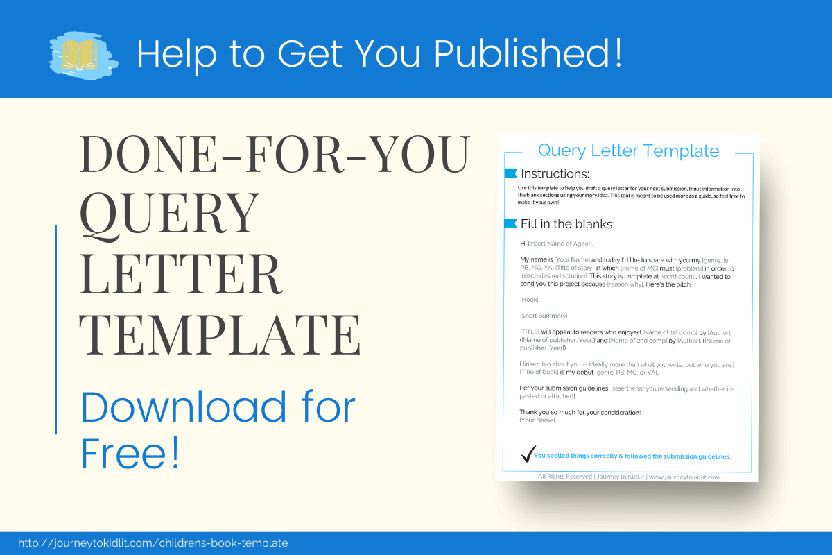 Download the free Query Letter Template