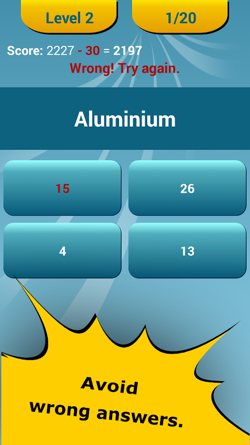 Periodic Table Quiz- screenshot