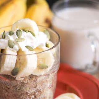 Healthy Microwaveable Banana Quinoa Flake Muffin.