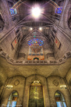 Photo: The entrance of Grace Cathedral from inside