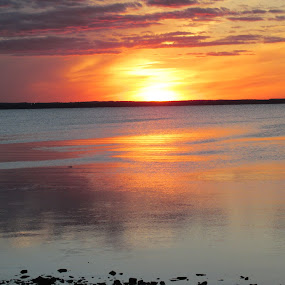 Setting Sun by Debra Rebro - Landscapes Waterscapes (  )
