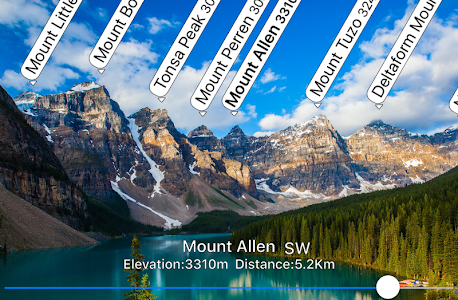 AR Mountains Map  -- 400000 peaks in the world -- 1.7