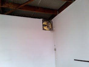 Photo: Vent Fan on North Wall