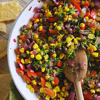 Fire Roasted Corn + Black Bean Salad Recipe